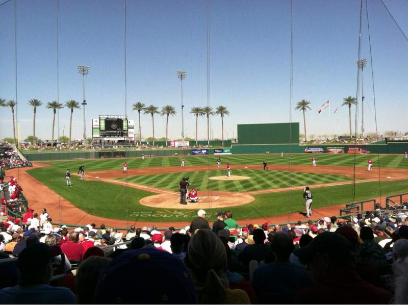 Seating view for Goodyear Ballpark Section 114 Row W Seat 3