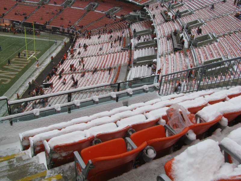 Seating view for FirstEnergy Stadium Section 516 Row 4 Seat 1