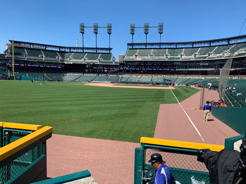 Seating view for Comerica Park Section 144 Row A Seat 6
