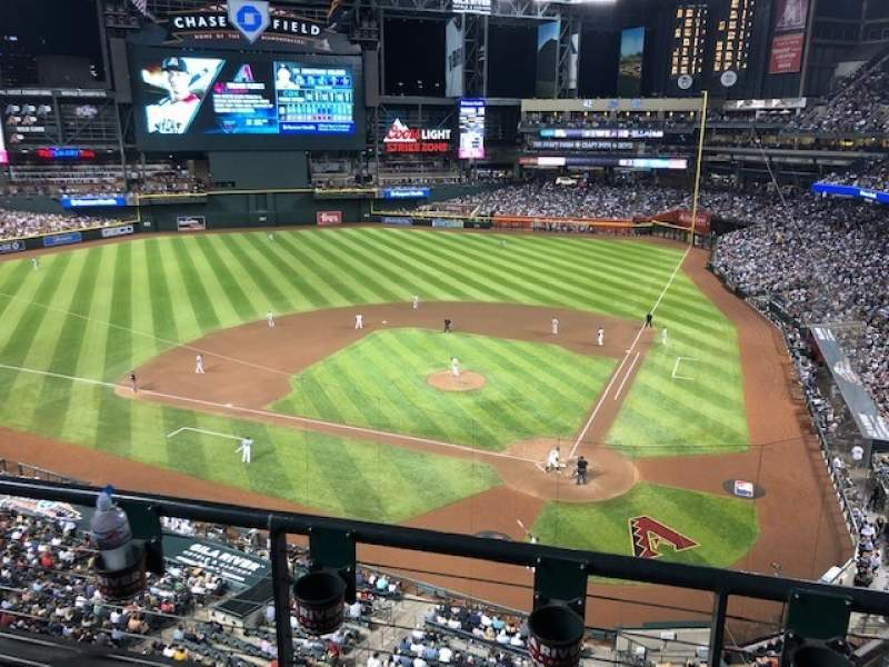Seating view for Chase Field Section 319 Row 2 Seat 3