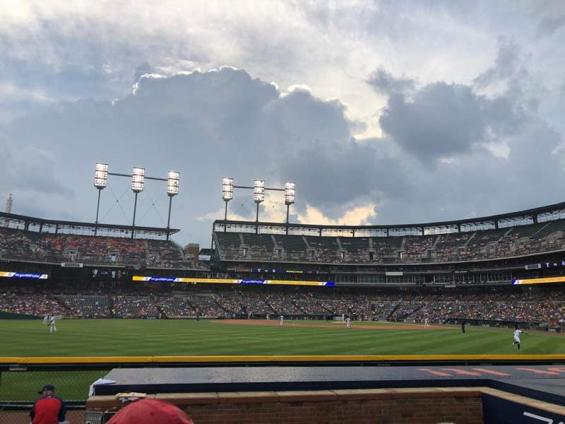 Seating view for Comerica Park Section 150 Row B Seat 3