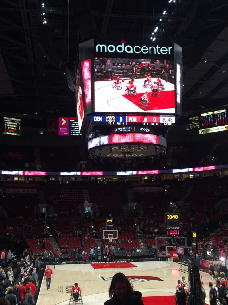 Seating view for Moda Center Section 107 Row F Seat 11