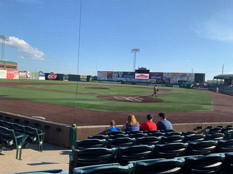 Seating view for GCS Credit Union Ballpark Section 114 Row G Seat 7