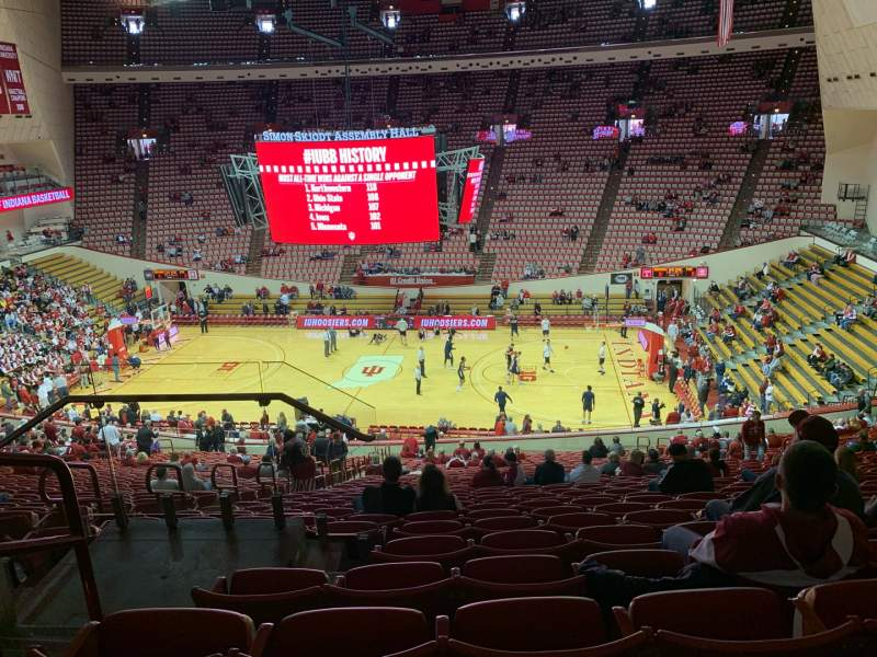Seating view for Simon Skjodt Assembly Hall Section J Row 30 Seat 104