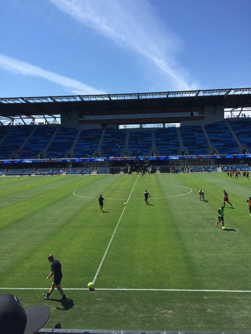 Seating view for Avaya Stadium Section 129 Row 2 Seat 10