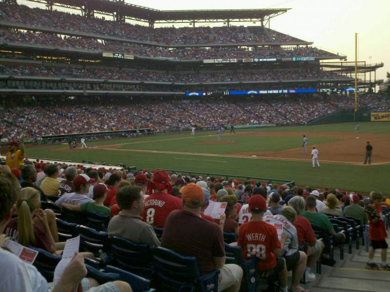 Seating view for Citizens Bank Park Section 113 Row 23 Seat 17