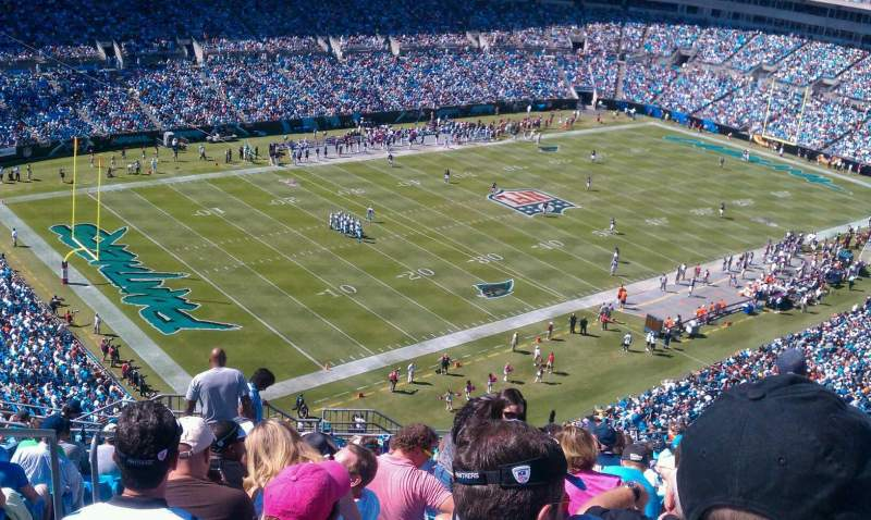 Seating view for Bank of America Stadium Section 521