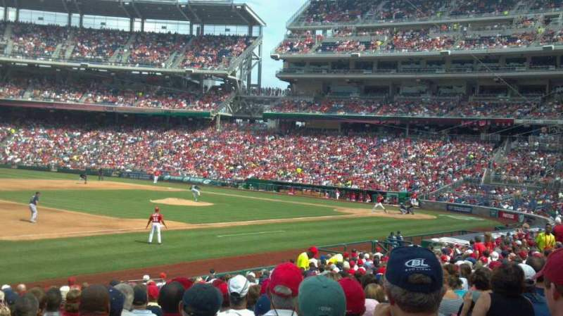 Seating view for Nationals Park Section 112 Row BB Seat 1