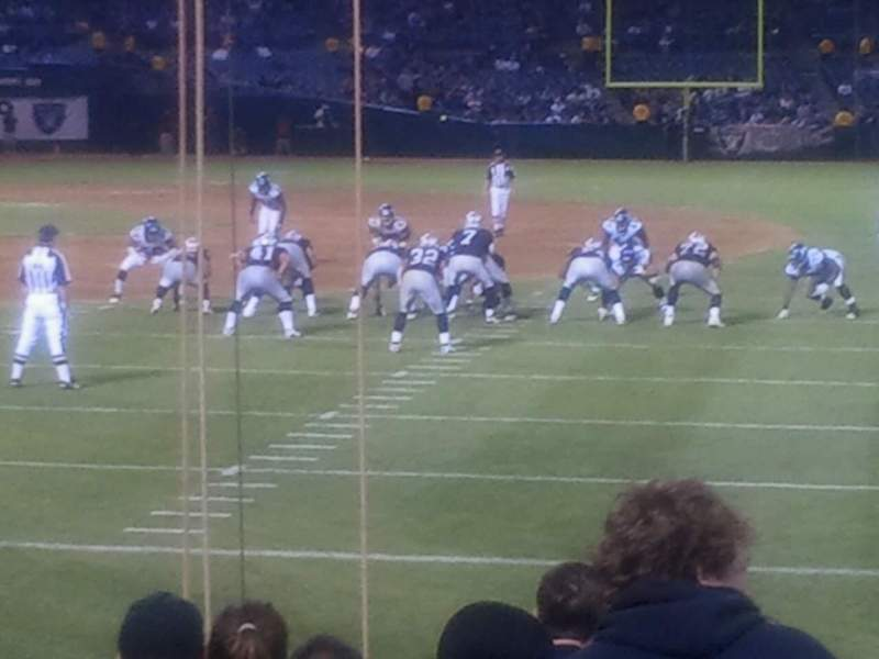 Seating view for Oakland Alameda Coliseum Section 105 Row 10 Seat 8