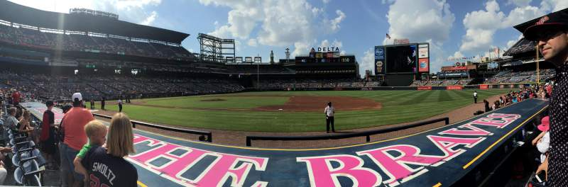 Seating view for Turner Field Section 113 Row 7 Seat 1 and 2
