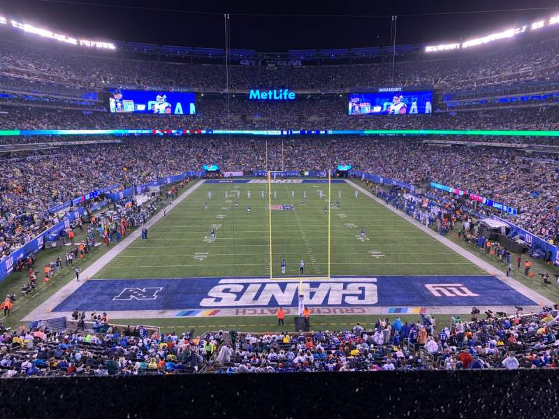 Seating view for MetLife Stadium Section 227A Row 1 Seat 6