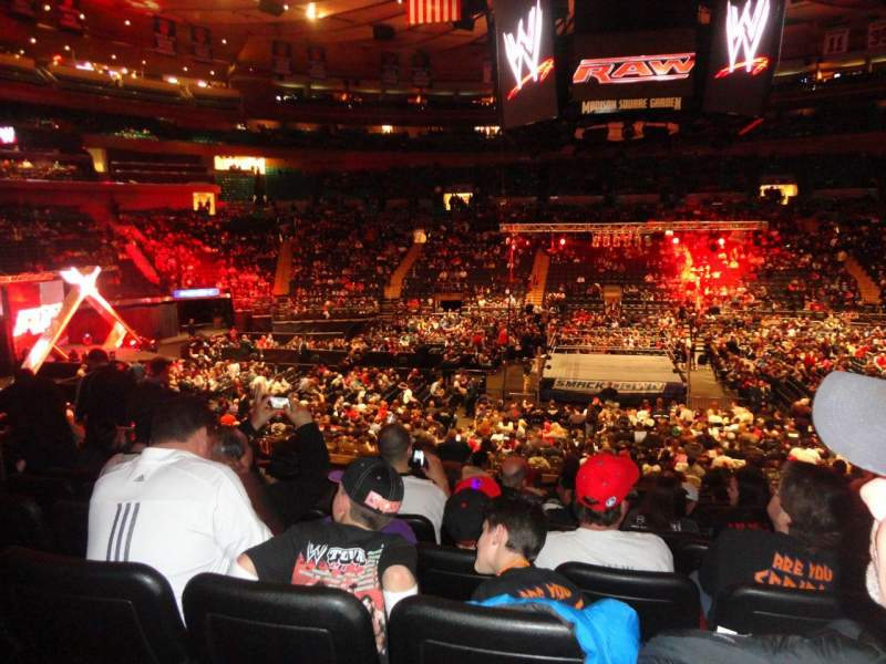 Seating view for Madison Square Garden Section 117 Row 17 Seat 7
