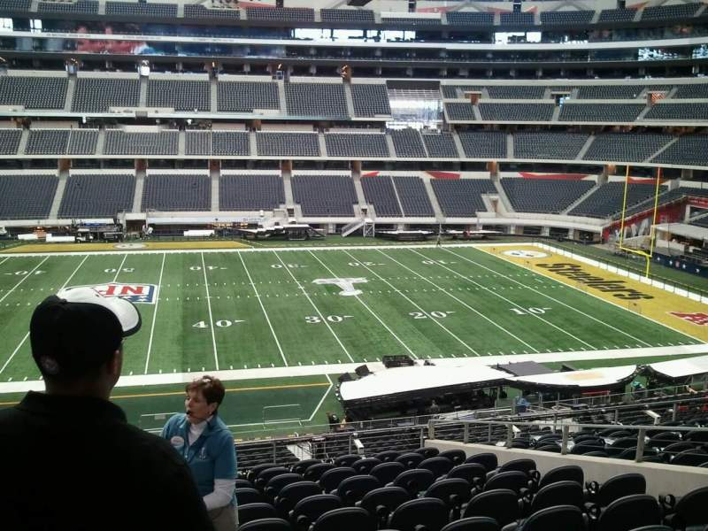 Seating view for AT&T Stadium Section C210 Row 9 Seat 20