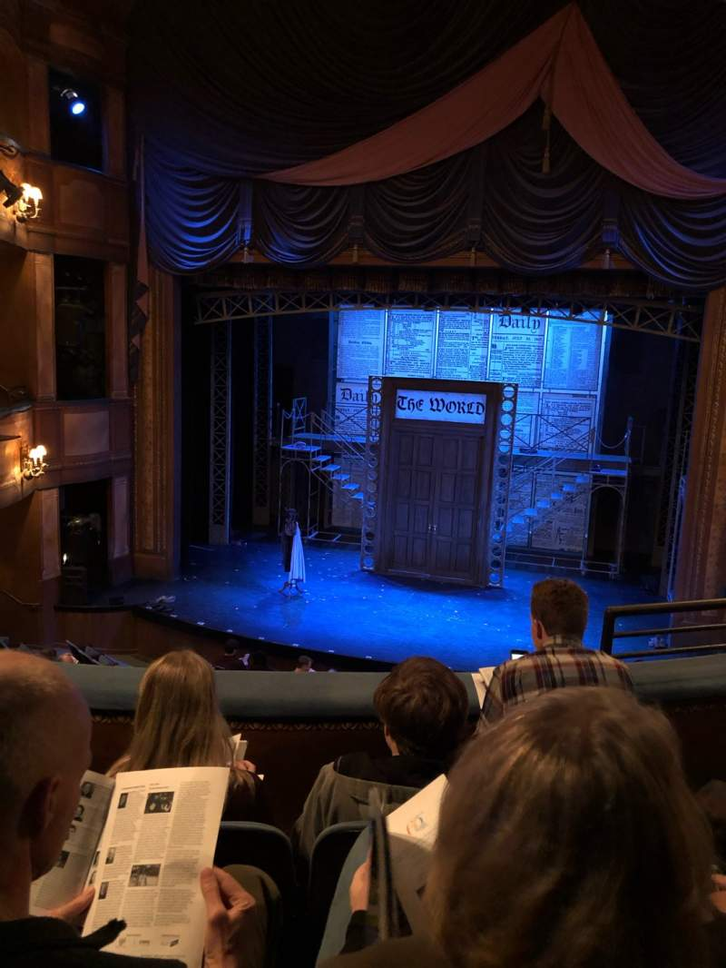 Seating view for Cabot Theatre at the Broadway Theatre Center Section Dress Circle Row C Seat 13