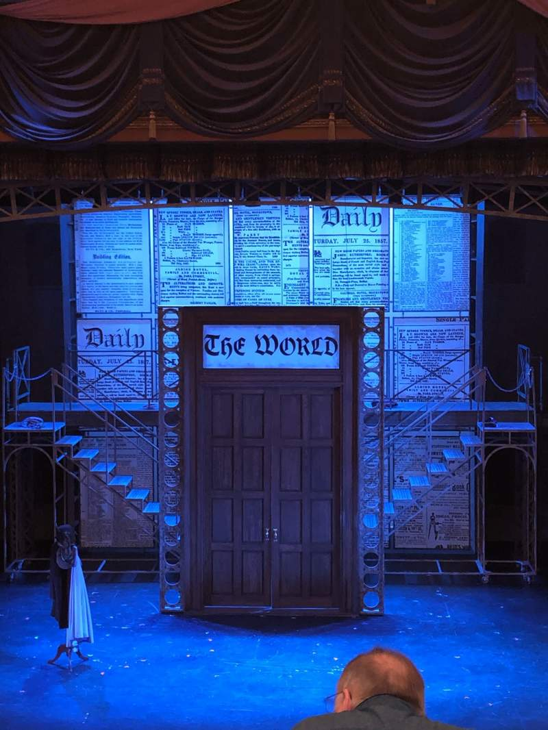 Seating view for Cabot Theatre at the Broadway Theatre Center Section Dress Circle Row C Seat 9