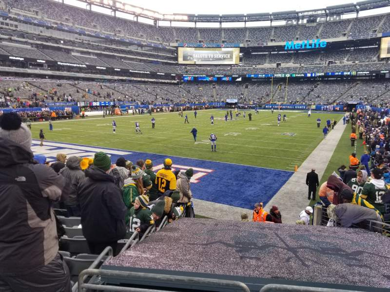 Seating view for MetLife Stadium Section 123 Row 12 Seat 7