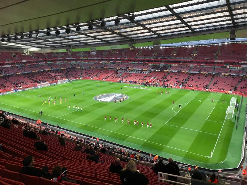 Seating view for Emirates Stadium Section 109 Row 20 Seat 509