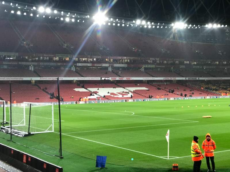 Seating view for Emirates Stadium Section 5 Row 5 Seat 155