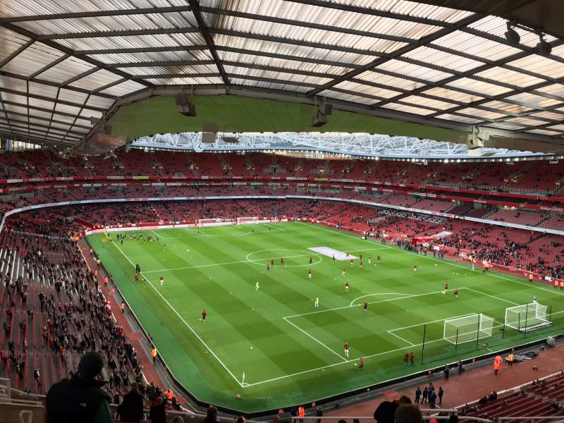 Seating view for Emirates Stadium Section 105 Row 19 Seat 410