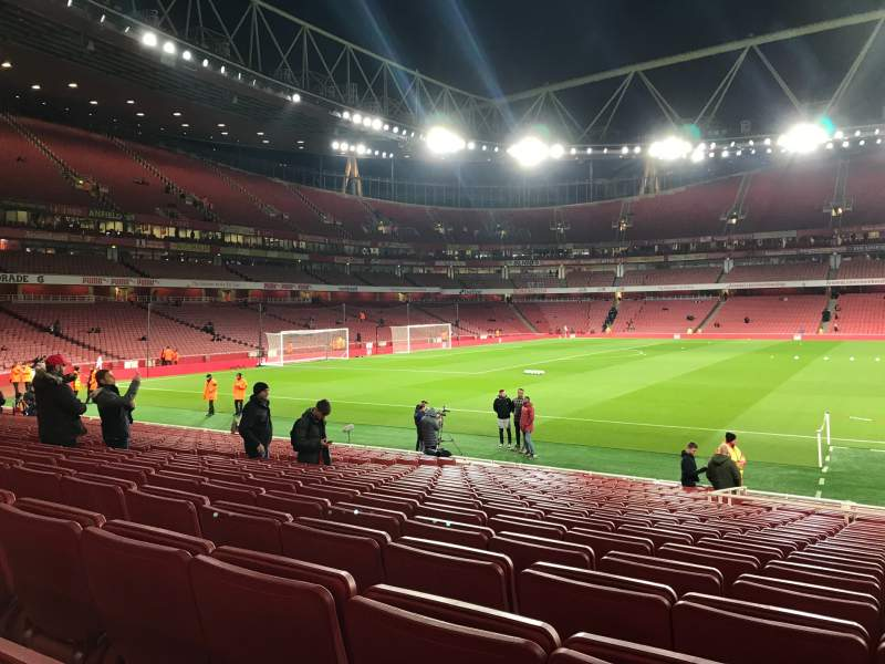 Seating view for Emirates Stadium Section 1 Row 19 Seat 29