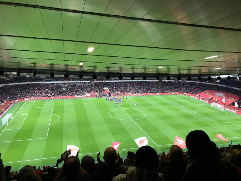 Seating view for Emirates Stadium Section 114 Row 30 Seat 662