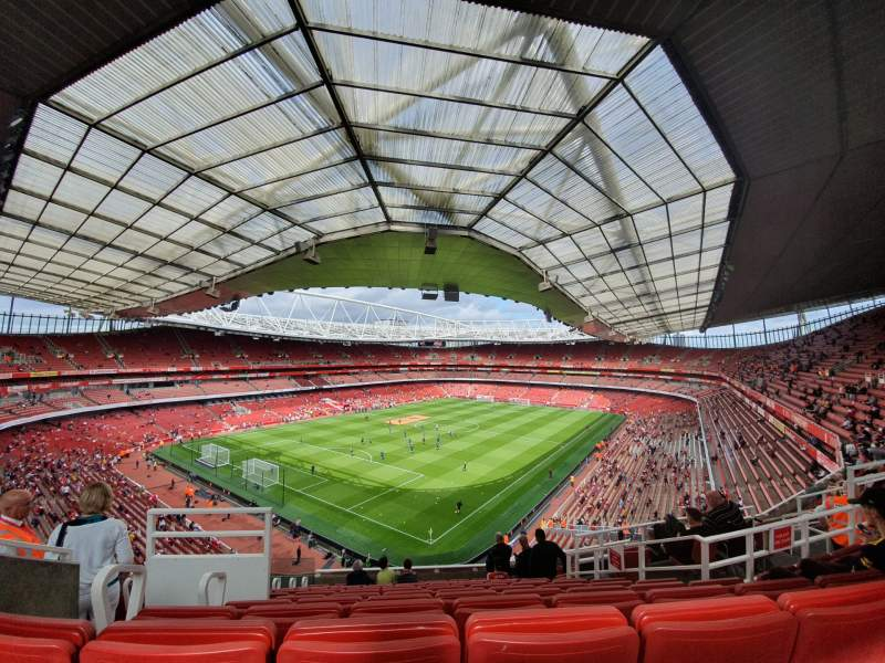 Seating view for Emirates Stadium Section 119 Row 12 Seat 782