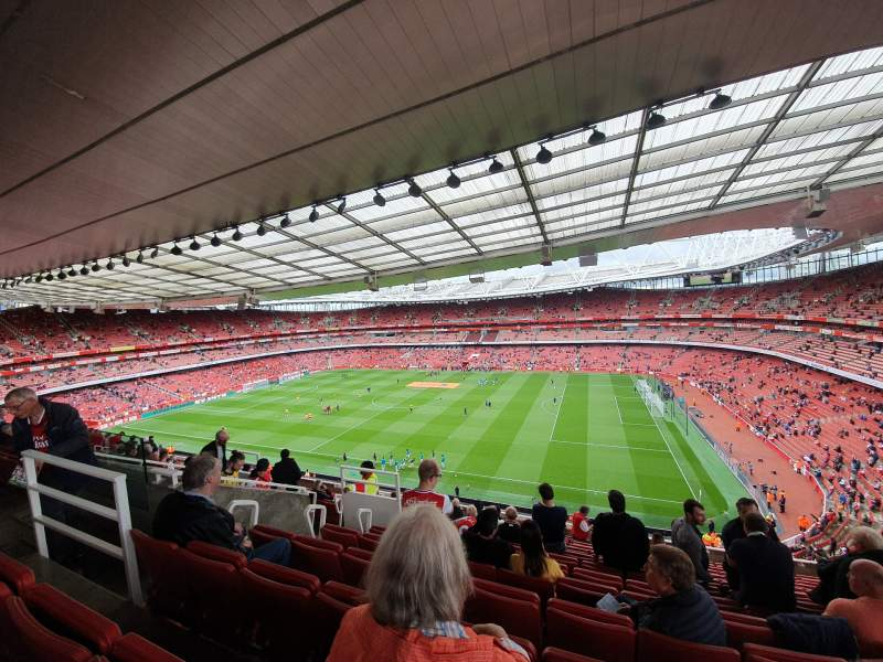 Seating view for Emirates Stadium Section 110 Row 13 Seat 526