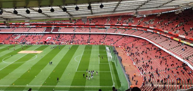 Seating view for Emirates Stadium Section 110 Row 25 Seat 518