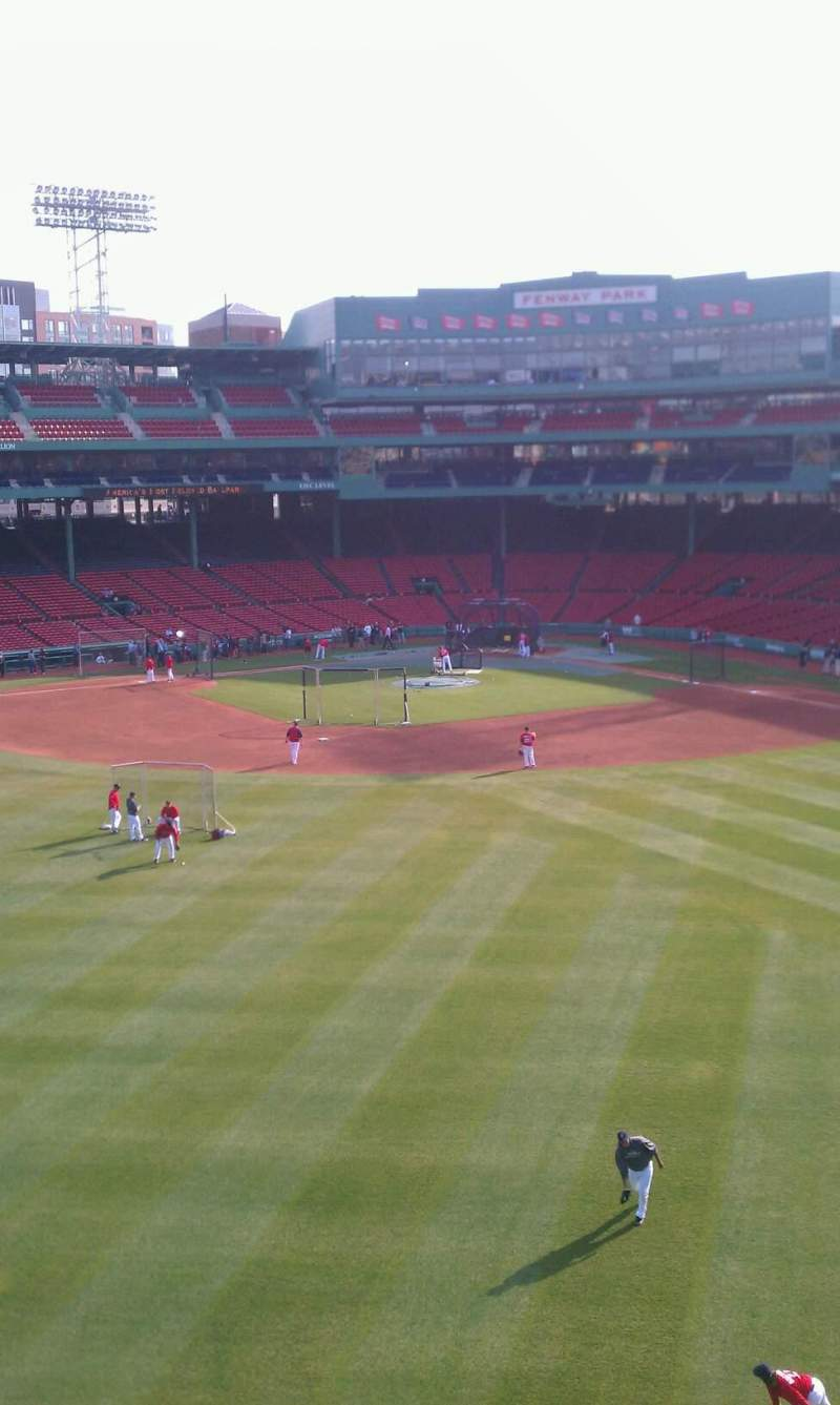 Seating view for Fenway Park Section Green Monster 7 Row 1 Seat 3