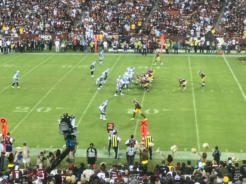Seating view for FedEx Field Section 218 Row 12 Seat 24