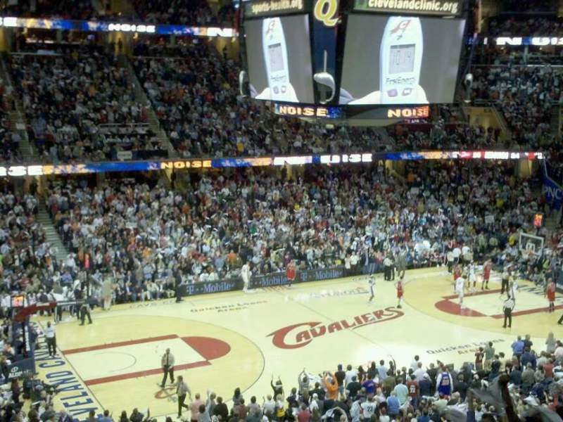 Seating view for Quicken Loans Arena Section 206