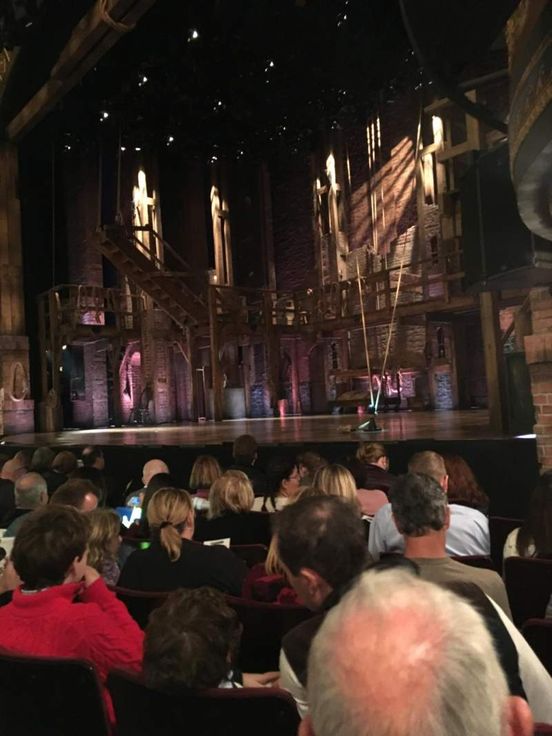 Seating view for Richard Rodgers Theatre Section Orchestra R Row F Seat 18