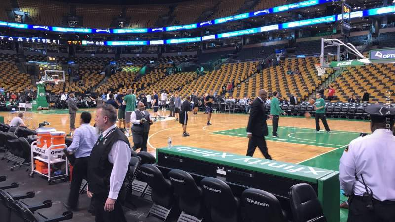 td garden section loge 21 row 1 seat 7 boston celtics vs utah jazz shared by adamd - Td Garden Seating