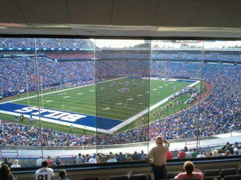 Seating view for Buffalo Bills Stadium Section Suite