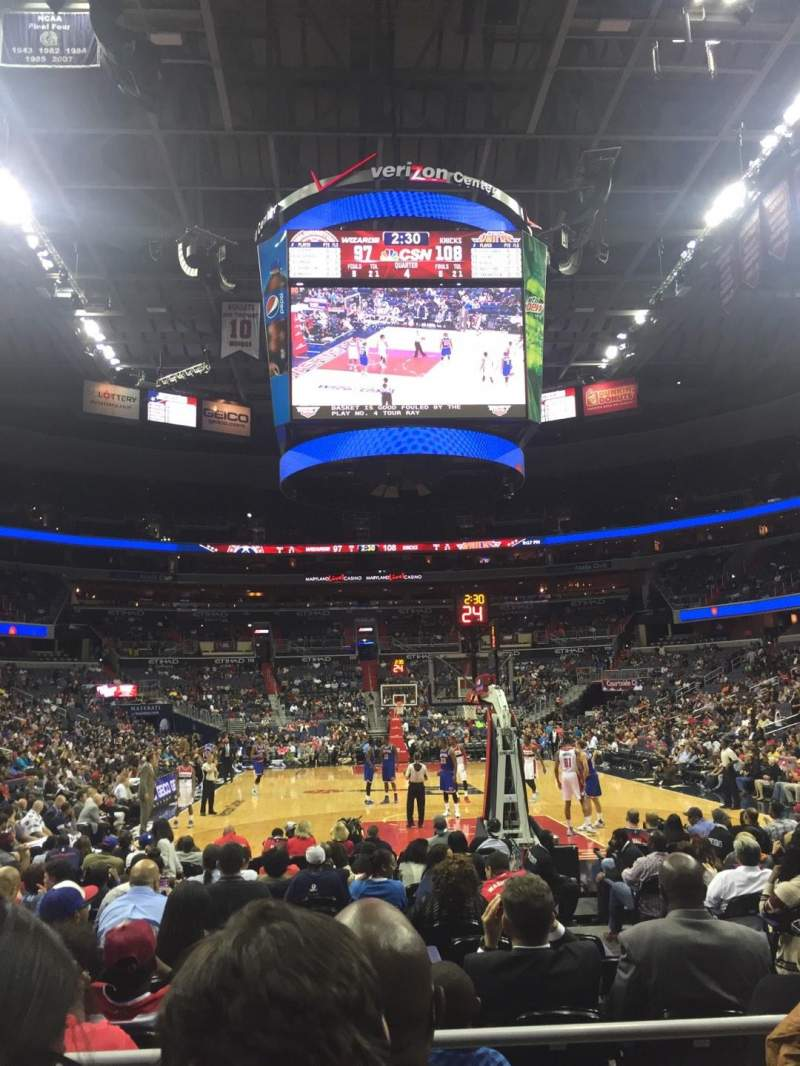 Capital One Arena, section: 105, row: C, seat: 7
