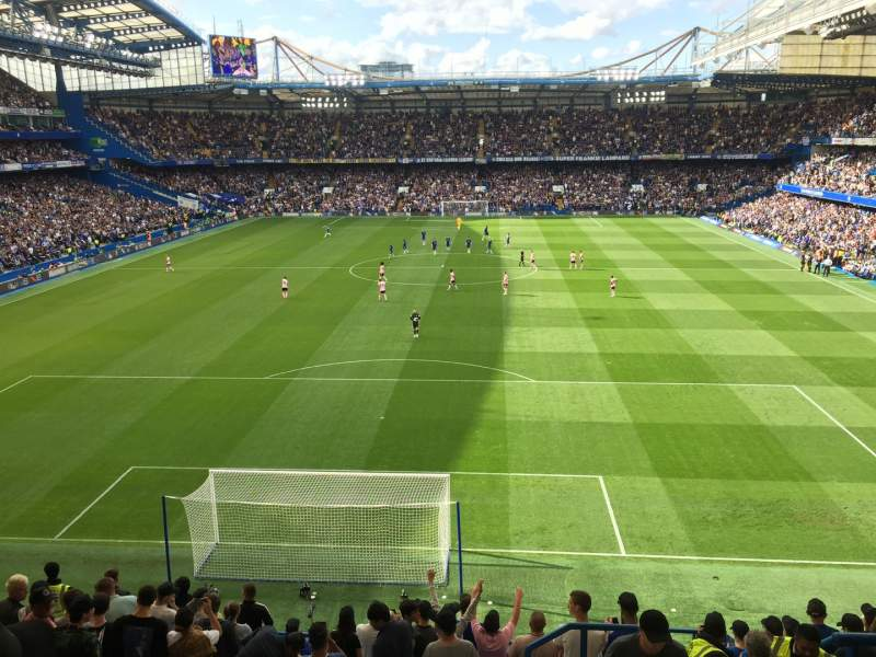 Seating view for Stamford Bridge Section Shed End Upper 4 Row 13 Seat 132