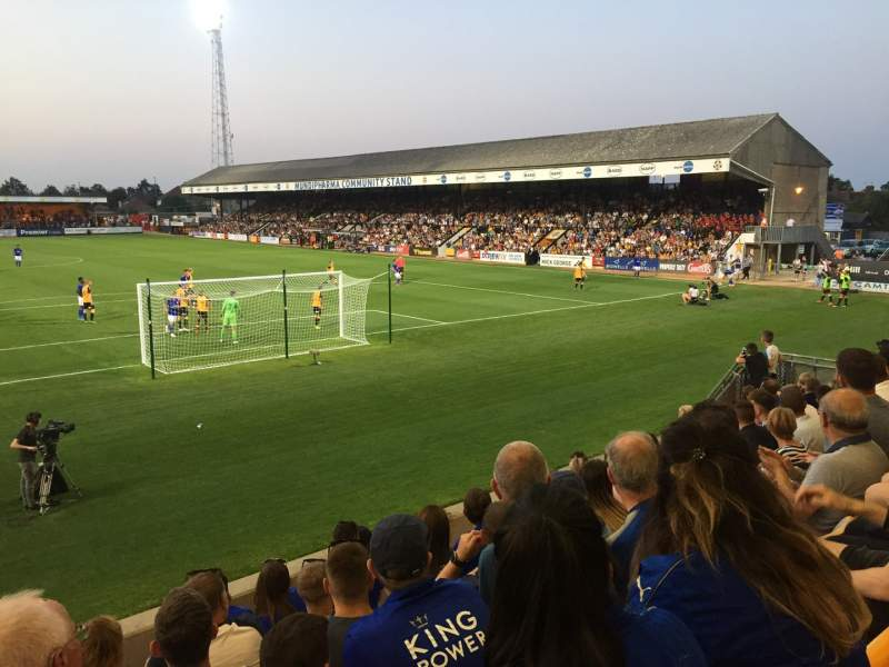 Seating view for Abbey Stadium Section J2 Row F Seat 26