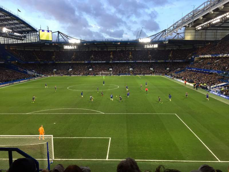 Seating view for Stamford Bridge Section Shed End Upper 3 Row 9 Seat 122