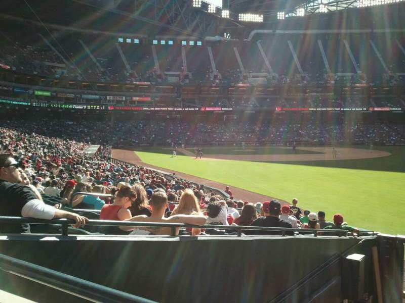 Seating view for Chase Field Section 108  Row 25  Seat 9