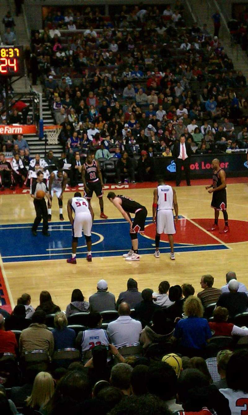 Seating view for The Palace of Auburn Hills Section 102