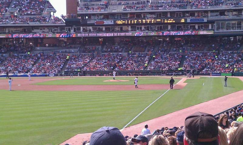 Seating view for Comerica Park Section 143 Row 17 Seat 9