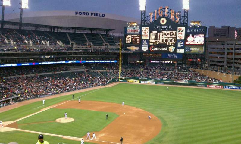 Seating view for Comerica Park Section 218 Row 10 Seat 17