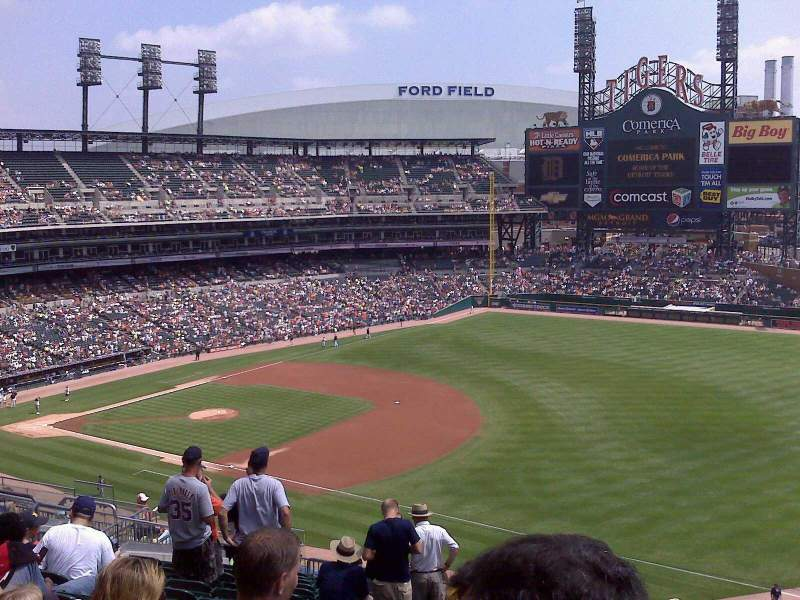 Seating view for Comerica Park Section 215 Row 3 Seat 8