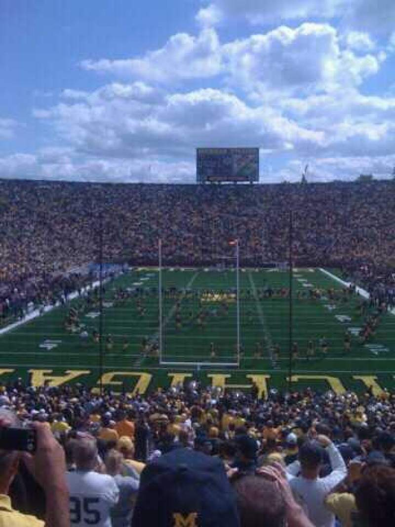 Seating view for Michigan Stadium Section 34 Row 50