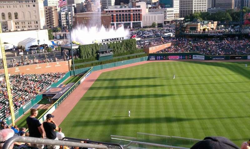 Seating view for Comerica Park Section 338 Row 12 Seat 24