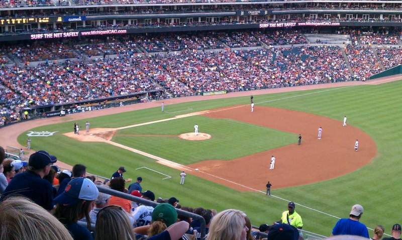 Seating view for Comerica Park Section 215 Row 19 Seat 9