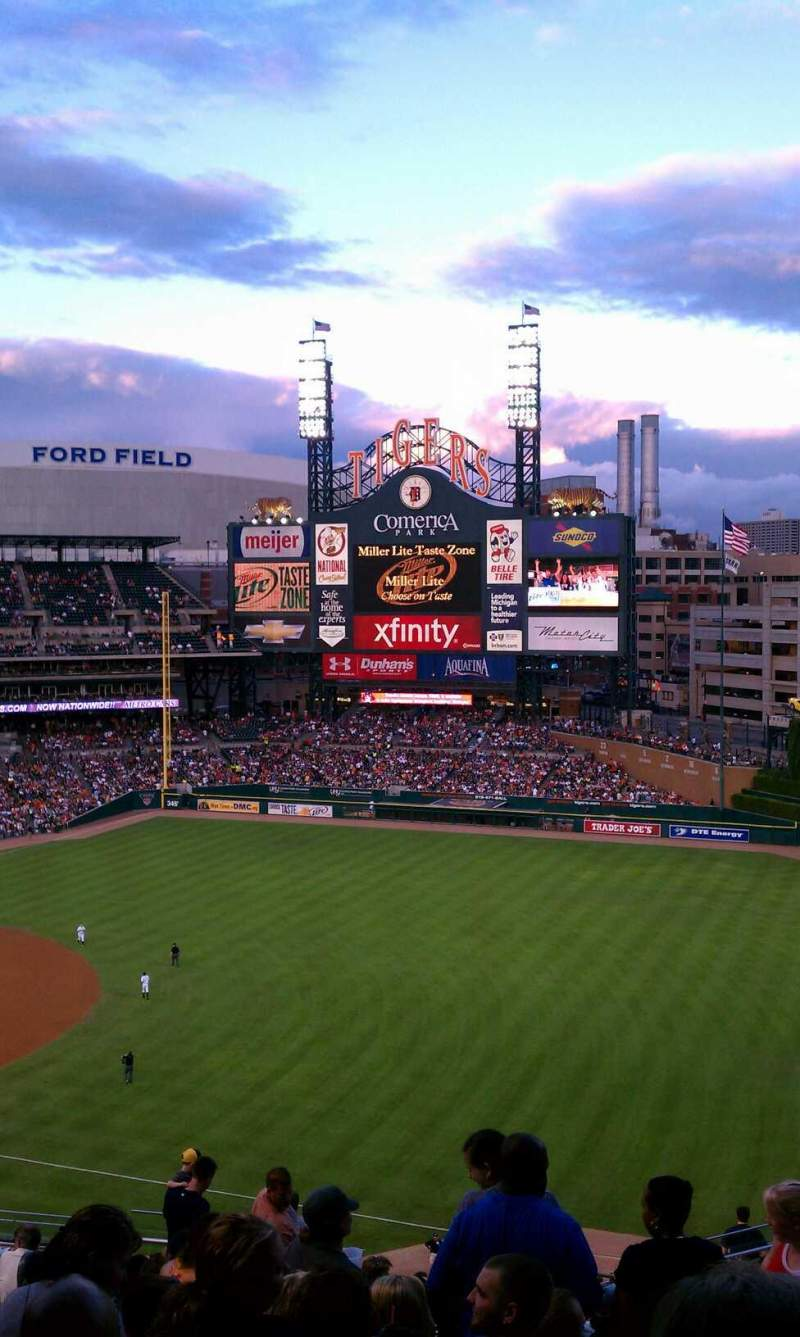 Comerica Park Section 215 Home Of Detroit Tigers
