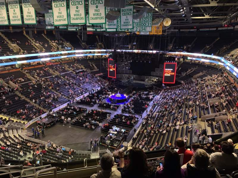 Seating view for TD Garden Section Bal 306 Row 11 Seat 23
