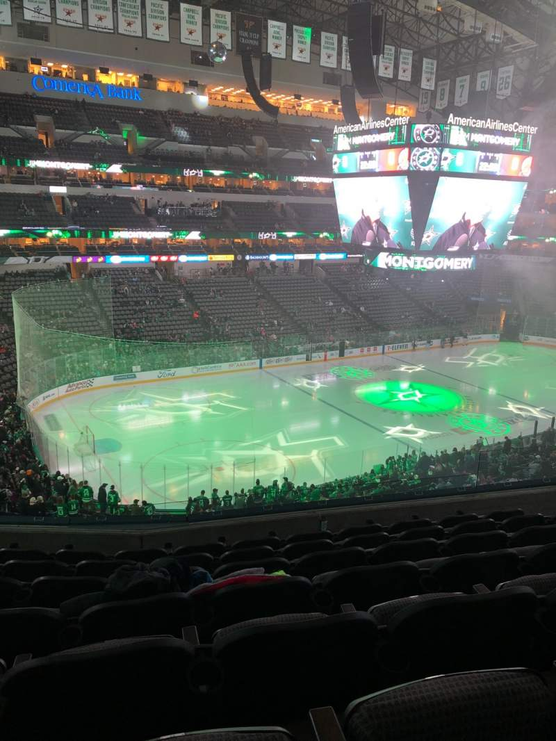 Seating view for American Airlines Center Section 221 Row G Seat 8