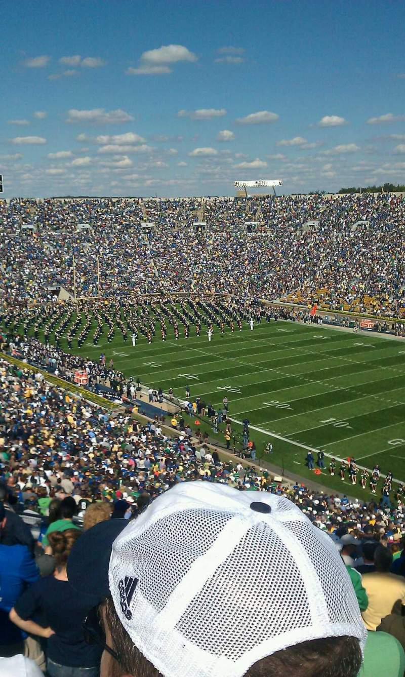 Seating view for Notre Dame Stadium Section 123 Row 21 Seat 8
